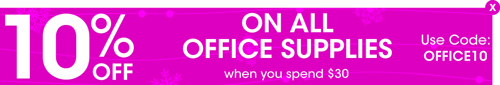 Save 10% on all office supplies and stationery when using the voucher code OFFICE10